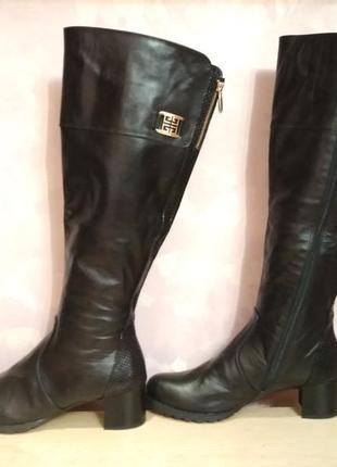 Зимние сапоги 43 р кожаные высокие большого размера