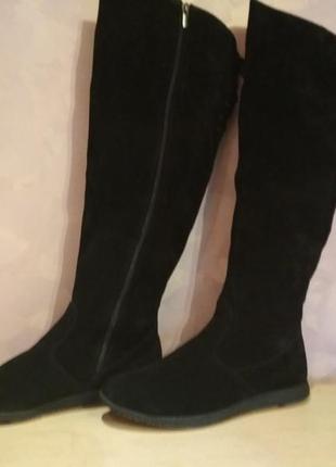 Зимние ботфорты -сапоги 43 р замшевые большого размера