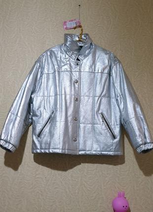 Куртка пухфер кожа кожаная утепленная