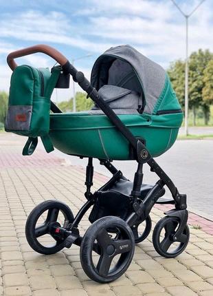Премиальная коляска 2 в 1 Verdi Orion Premium 04 Dark green