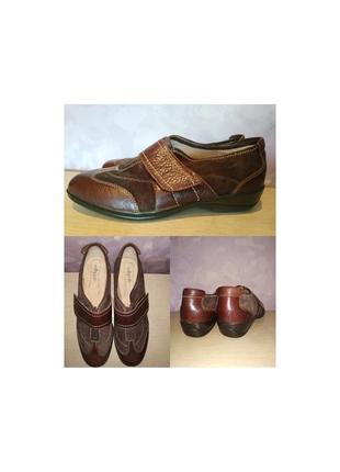 Туфли sofft мокасины липучка кожаные большой размер