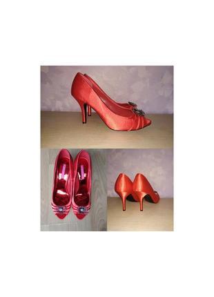Туфли шпилька красные лодочки