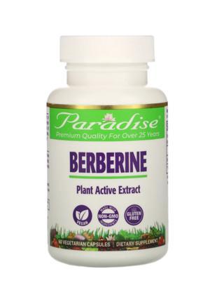 Берберин Барбарис, Уровень сахара в крови, Paradise Herbs, 60шт
