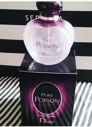 Christian Dior Pure Poison, женская парфюмированная вода 100 мл.