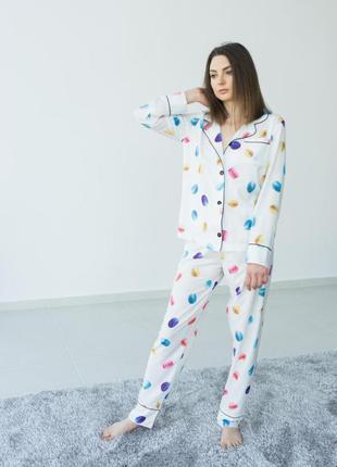 Нежная пижама в макаруны