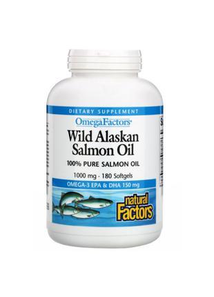 Жир дикого лосося, 1000 мг, Natural Factors, 90 мягких таблеток