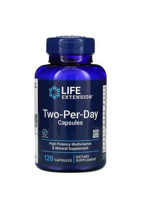 Мультивитамины Two-Per-Day, Life Extension, 120 капсул