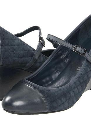Туфли 42 р танкетка кожаные большой размер