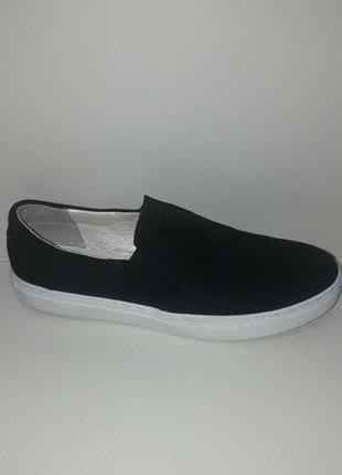 Слипоны 43 р туфли мокасины слиперы замш