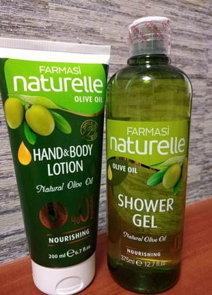 Гель для душа и лосьон для рук и тела с оливой Фармаси Olive Oil