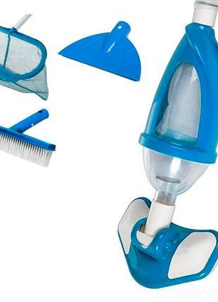 Набор для чистки бассейна Intex 28003 пылесос для очистки дна от