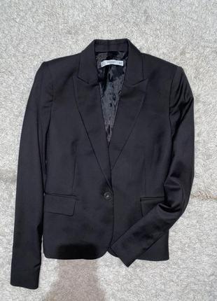 Чёрный женский пиджак/жакет  оригинал mango