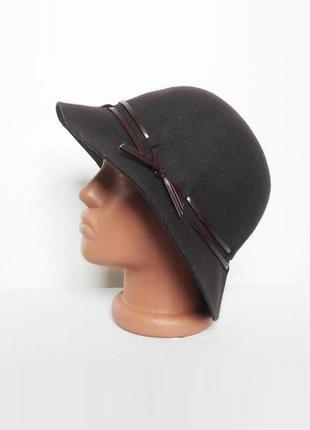 Осенняя фетровая классическая шерстяная шляпа