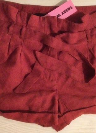 Стильные шорты замша