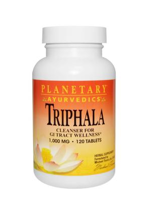 Аювердическая Трифала, 1,000 мг, Planetary Herbals, 120 таблеток