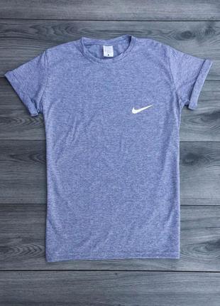 Футболка мужская с принтом nike серая / футболка чоловіча сіра