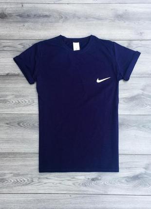 Футболка мужская с принтом nike синяя / футболка чоловіча синя