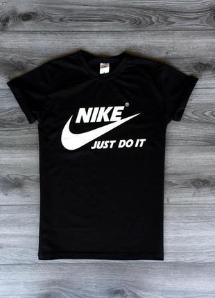 Футболка мужская с принтом nike черная / футболка чоловіча чорна