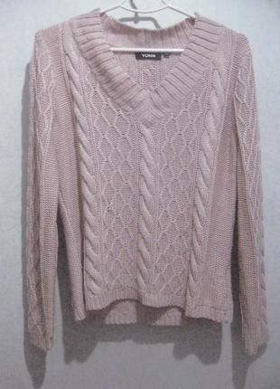 Джемпер свитер кофта yorn розовый светлый сиреневый акрил