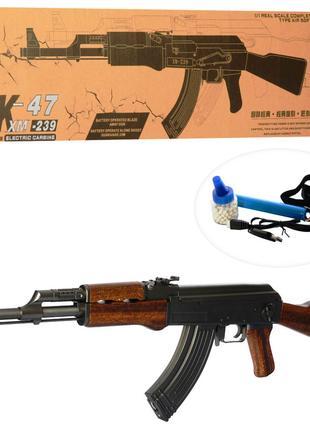Игрушечный автомат Калашникова АК-47 XM-239 на аккумуляторе