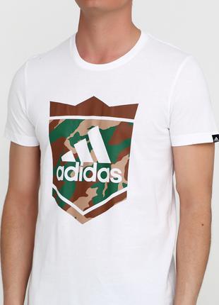 Футболка белая с рисунком ТМ Adidas размер S