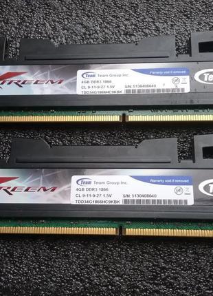 Оперативная память TeamGroup 4Gb x 2шт/DDR3 /1866Mhz