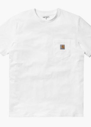 Белая футболка Carhartt M, как L