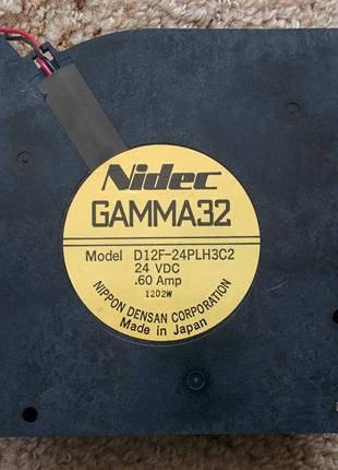 "Центробежный Вентилятор (Улитка) ""Nidec"" 24В, 0,6А Made in Japan"