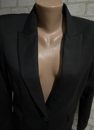 Чёрный женский пиджак/жакет  оригинал mango 🥭  made in vietnam 🇻🇳