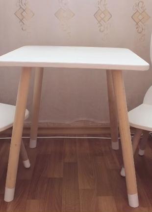 Столик стульчик зайчик зайка