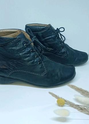 Кожаные ботинки, черные ботинки, ботинки на шнуровке, ботинки