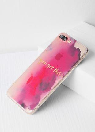 Чехол акварельный узор iphone 7 plus case