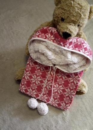 Пончо халат кигуруми для дома и сна  с капюшоном размер 10-18 ...