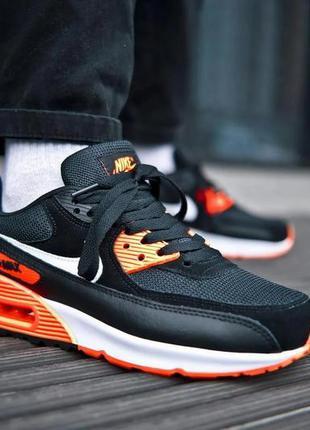 Мужские кроссовки nike air max 90 black orange