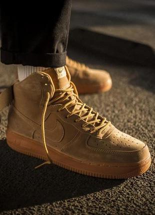 Мужские кроссовки nike air force 1 mid flax