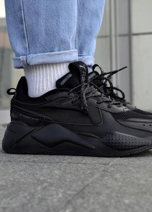 Мужские кроссовки puma rs-x 1 черные