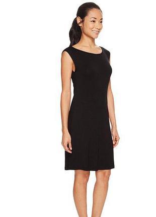 Платье футляр united benetton чёрное строгое деловое офис италия