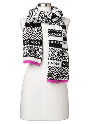 Теплый зимний шарф шерсть мериноса gap