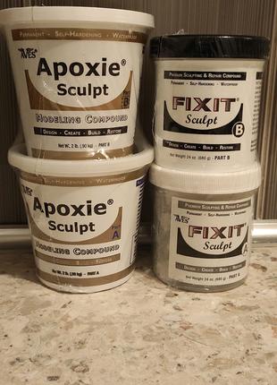 Apoxie Sculpt. Fixit sculpt. Профессиональная масса для лепки.