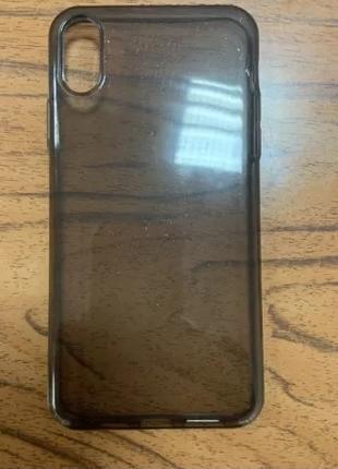 Чехол-накладка для Apple iPhone Xr - прозрачный, черный - Baseus