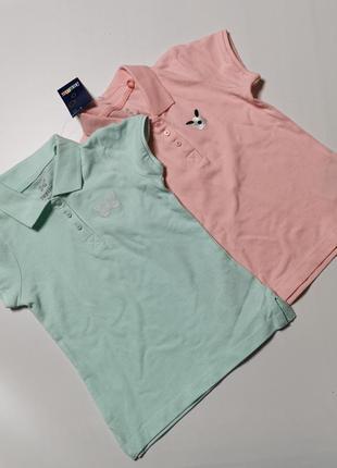 2 шт футболка-поло для девочки германия
