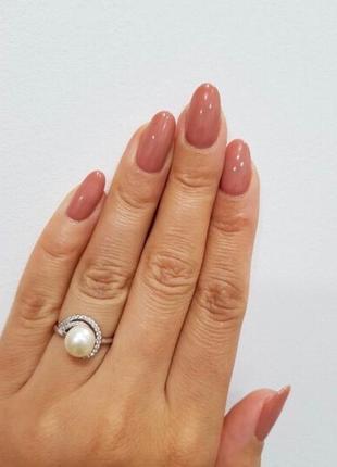 Кольцо серебро 925 жемчуг лк0147