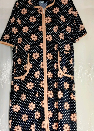 Женский велюровый халат 54 размера