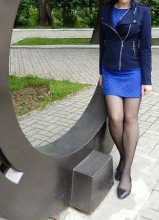 Платье весна-лето  р-р м. синий цвет.