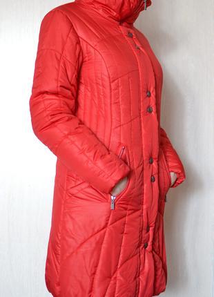 Длинная утепленная куртка new morrigan красного цвета xs-s