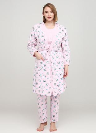 Розовый демисезонный комплект cotpark 16041