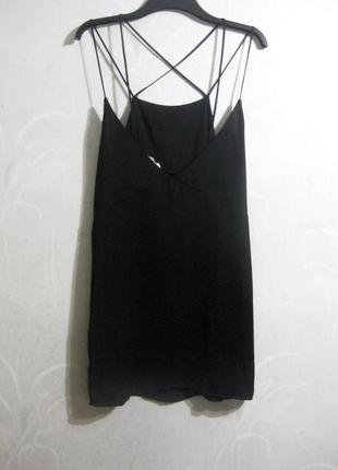 Платье сарафан мини moss copenhagen чёрное коктейльное бретель...