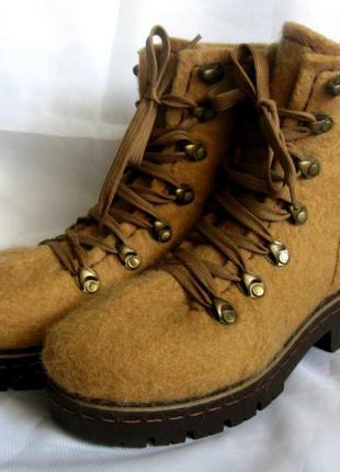 Валенки-ботинки, 100% шерсть, ручная работа, 37 р-р