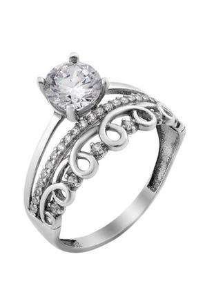 Кольцо серебро 925 двойное лк0291