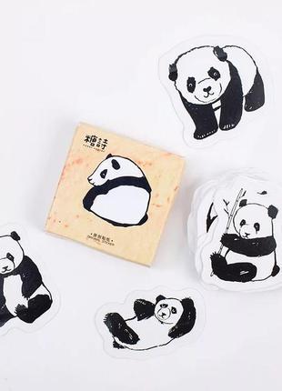 Набор наклеек, стикеров для скрапбукинга панды, 45 шт.